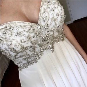 Gorgeous beaded wedding dress